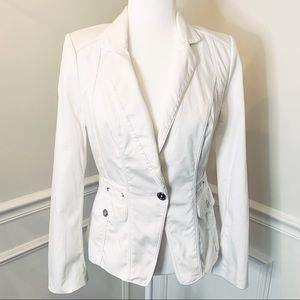 WHBM White Jacket with silver buttons. Size 6